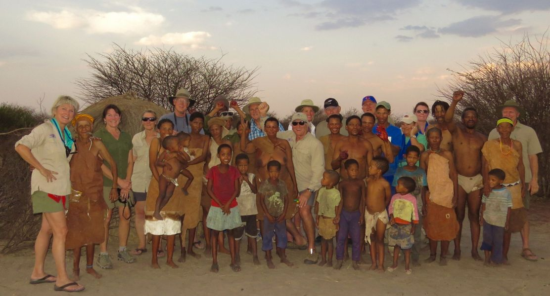 We have been visiting our bushman friends from a seven years now