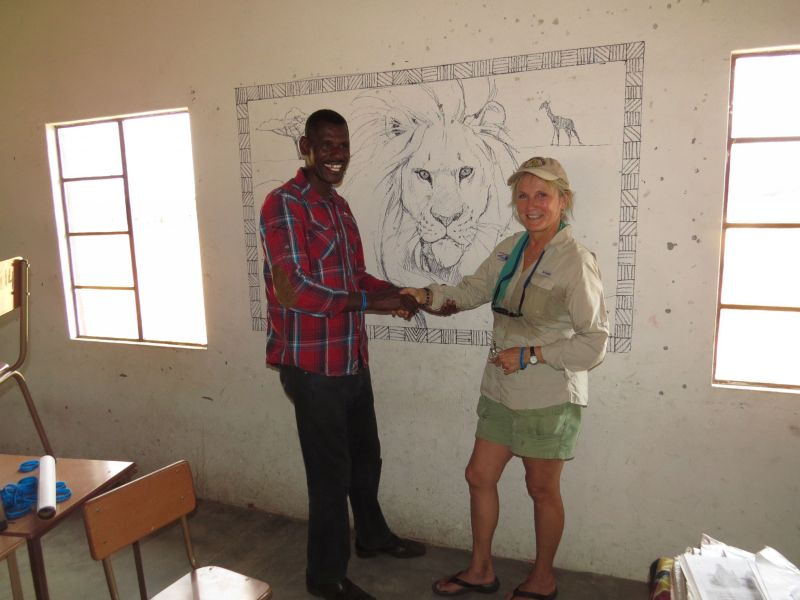 This is a mural I did at Nygamo school