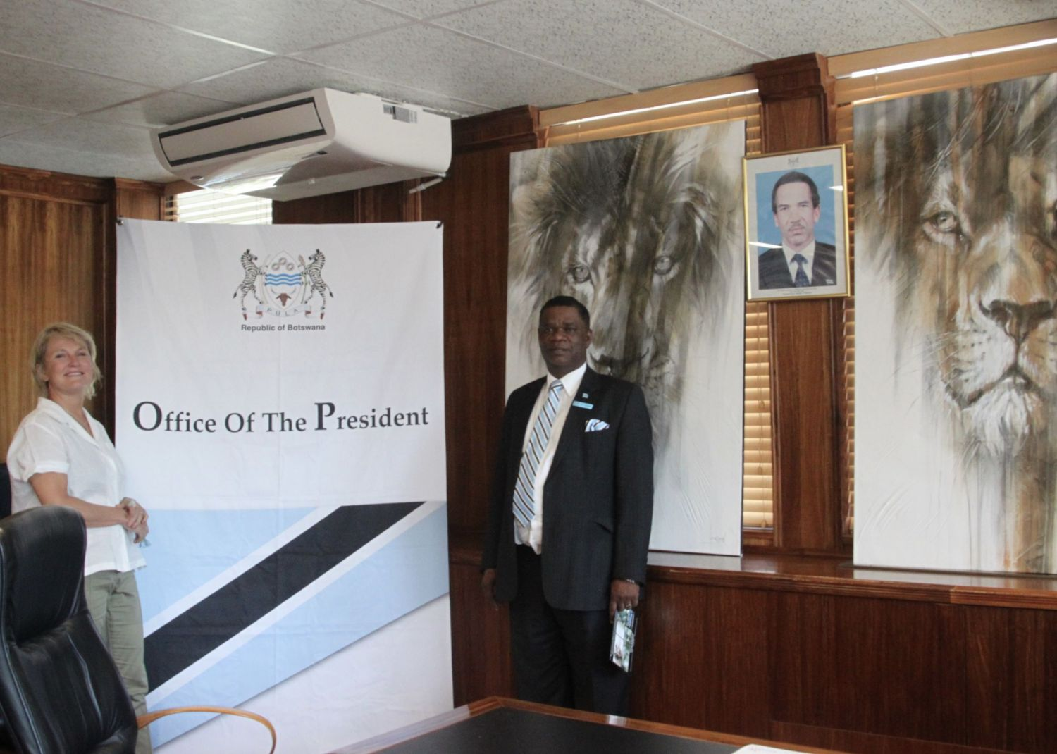 Meeting with Botswana's top officials was pretty nerve-racking.